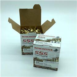 Winchester 22 LR, 36 Gr Hollow Point ammunition, 1110 Rounds