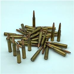 Assorted loose 6.5 x 55 Ammunition in Bag, 35 Rounds