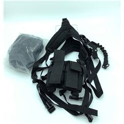 Tactical Chest Rig w/ Bungie Sling & Two AR15 Mag Pouches
