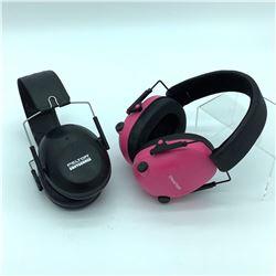 Champion Pink Electronic Earmuff & Peltor Black Shotgunner Earmuff
