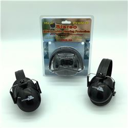 Electronic Heavy Protection Earmuff & 2 Rifleman Earmuffs