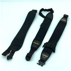 3 Assorted Black Padded Slings
