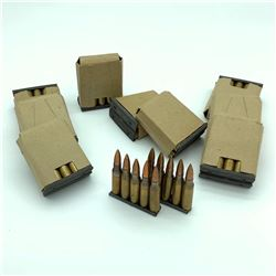 IVI 7.62 x 51 Ammunition on Charger Clips, 100 Rounds