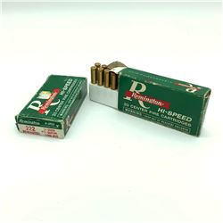 Remington Hi Speed 222 Rem 50 Grain Pointed Soft Point, 20 Rounds and Mixed 222 Rem, 20 Rds