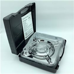 """Bella Tavola """"Click 2 Cook"""" Stainless Portable Gas Stove"""