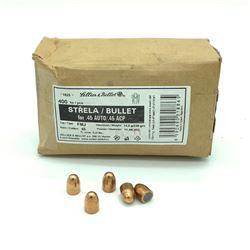 """S & B Strella 45 Cal (.452"""") Full Metal Projectiles, 400 Pieces"""