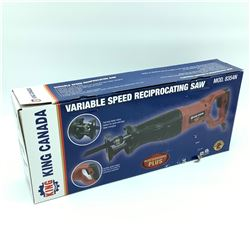 King Canada Variable Speed Reciprocating Saw