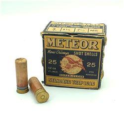 Meteor 12 Gauge Trap, # 7.5 ammunition, 25 Rounds