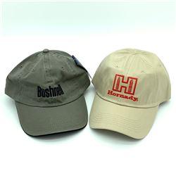 Bushnell Hat - Green & Hornady Hat - Tan