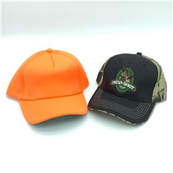 Blaze Hunter Orange Hat & Hevi-Shot Black & Camo Hat