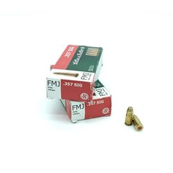 Sellier & Bellot 357 Sig, 140 Grain FMJ, 100 Rounds