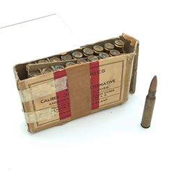 30-06 Caliber M2 Ball Ammunition, Canadian Issued, 18 Rounds