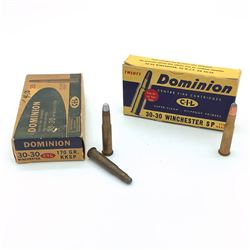 CIL Dominion 30-30 Win 170 Grain Soft Point Ammunition, 22 Rounds & 5 Rounds of Assorted