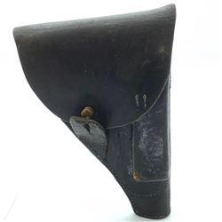 Black Leather Military Pistol Holster