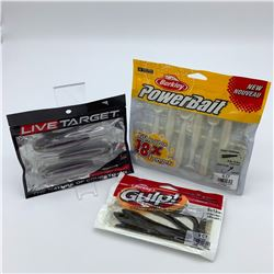 3 Assorted Bait Packages - Berkley PowerBait, Live Target & Berkley Gulp!