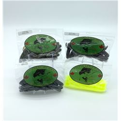 Lip Locked Baits: 4 Packages of Rubber Bait - Worm & Craw