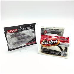 3 Packages of Assorted Bait -  Berkley Gulp!, Live Target & Koppers Live Target