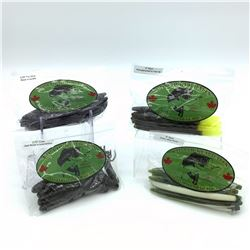 Lip Locked Baits: 4 Packages of Rubber Bait - Rubber worm & Craw Bait