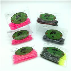 Lip Locked Baits: 6 Packages of Rubber Bait - Worm