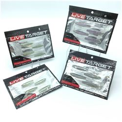 Live Target Bait - 4 Packages of Ghost Tail Minnow