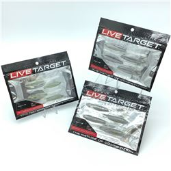 Live Target Bait - 3 Packages of Ghost Tail Minnow