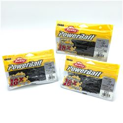 "Berkley PowerBait ""Chigger Craw"" Rubber Bait  - 3 Packages"