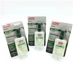 3x Coleman Insect Repellent Pump Spray, 30% Deet, 100ml