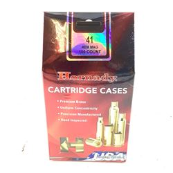 Hornady Cartridge Cases, 41 Rem Mag, New.