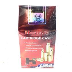 Hornady Cartridge Cases, 30-40 Krag, New.