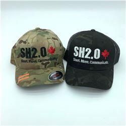 2 School House Hats - Black & Camo