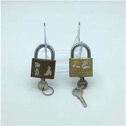 2 ABUS Padlocks with Keys
