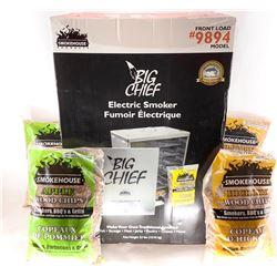 Smoke House Big Chief Smoker and 4 Bags of Wood Chips