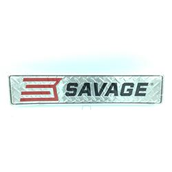 "Savage Arms Metal Sign, 24""x5"", New"
