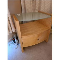 Glass Topped Nightstand