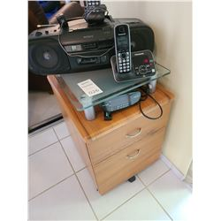 Rolling file Cabinet and electronics B
