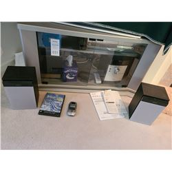 Sony Mp3 system, Toshiba DVD & VHS player plus swivel entertainment stand C
