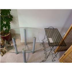End table and magazine rack B