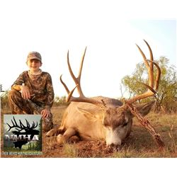 New Mexico: 5 Day Trophy Mule Deer rifle hunt for 2 hunters.