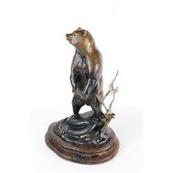 World Renowned Wildlife Sculptor Frank Entsminger's Kodiak Limited Edition Bronze