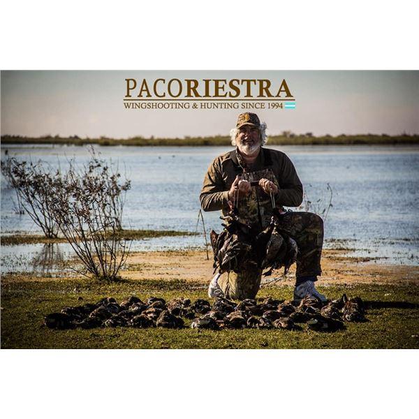 Argentina: 6 D 5 N All Wings Bird Hunt For 4 Hunters.  Includes Doves, Ducks, Pigeon & Perdiz