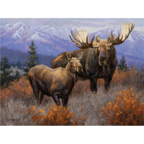 "Alaska: Artist Chip Brock's ""His Girl For Now"" Original Oil Painting"