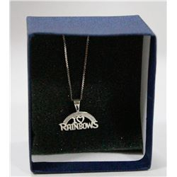 925 STERLING SILVER CHAIN WITH RAINBOW PENDANT
