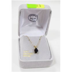 10 KT GOLD NECKLACE WITH SAPPHIRE