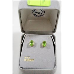 10 KT GOLD EARRINGS WITH PERIDOTS