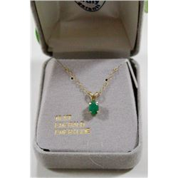 10 KT GOLD NECKLACE WITH EMERALD