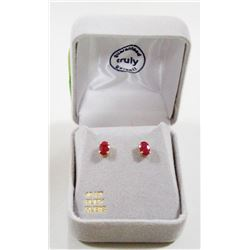 10 KT GOLD EARRINGS WITH RUBIES