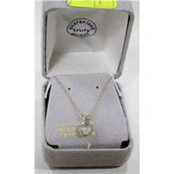 10 KT GOLD NECKLACE WITH BLUE TOPAZ