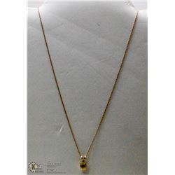 10 KT GOLD NECKLACE WITH CITRINE