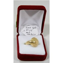 18 KT GOLD MID CENTURY MODERN RING SIZE 7.5