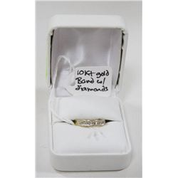 10 KT YELLOW GOLD RING WITH DIAMONDS